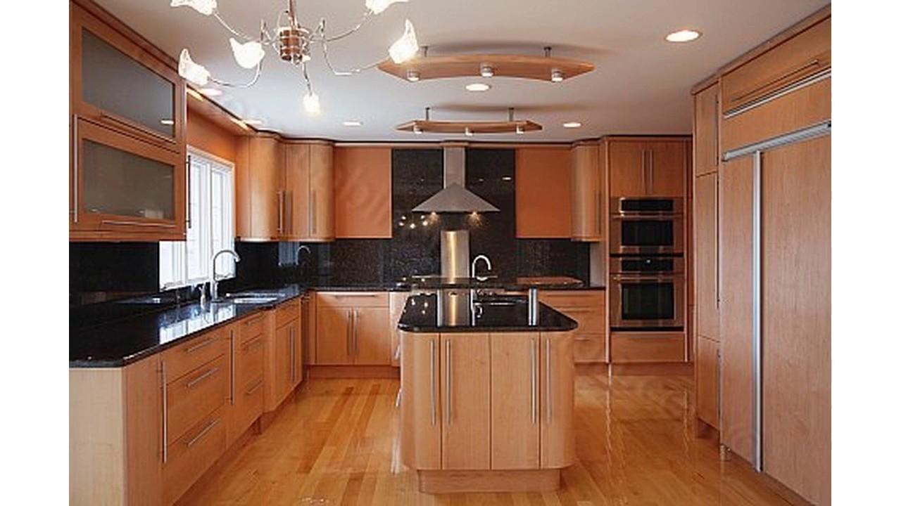Diseño de color de cocina con armarios de arce - YouTube