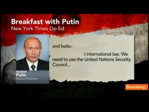 Putin's Syria Op-Ed Gets Slammed on the Hill