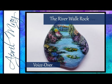 Rock Painting #5: The River Walk| April May Fine Art | How to paint a river landscape on rocks