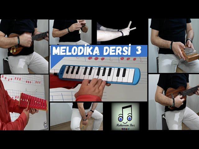 MELODİKA DERSİ #3 Farklı çalgılarla ''Ağaçkakan Şarkısı'' Kalimba Cajon Ukulele Metalofon Melodika
