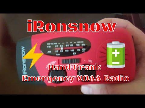 iRonsnow Dynamo Emergency Solar Hand Crank Self Powered AM/FM NOAA Weather Radio