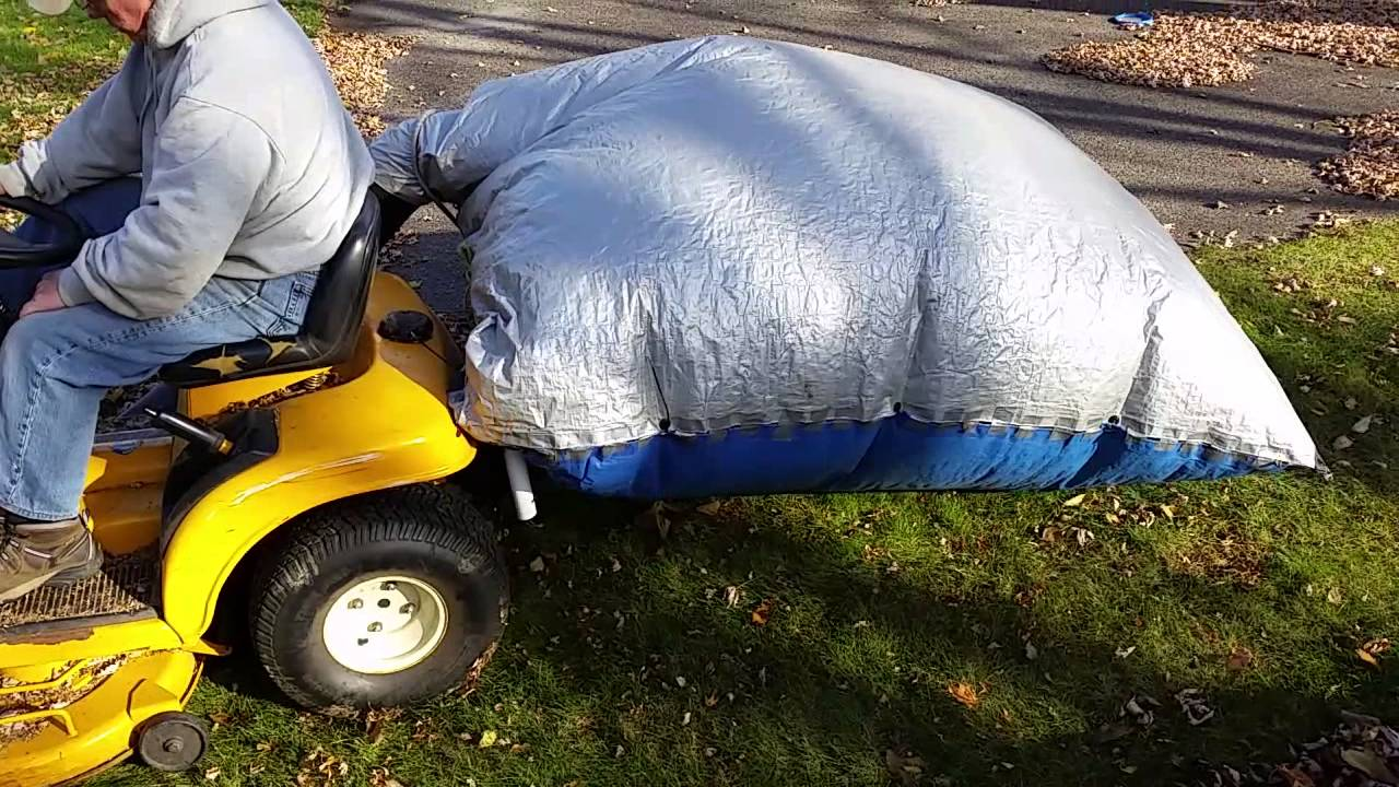 Lawnmower Tarp Leaf Bag