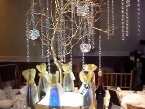 Manzanita Branch Wedding Centerpieces At The Westchester Manor Ny