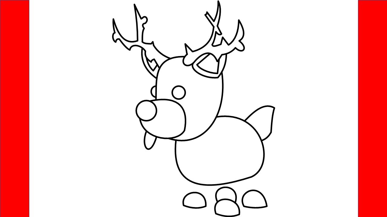 How To Draw Reindeer From Roblox Adopt Me - Step By Step ...