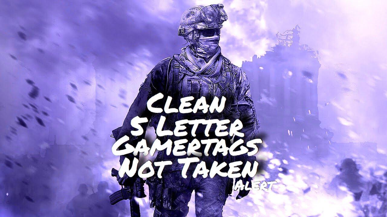 Clean 5 Letter Gamertags Not Taken 2019 Xbox