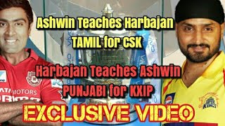 Ashwin teaches Tamil for harbhajan to play in CSK|IPL 11 CSK squad|Exclusive video