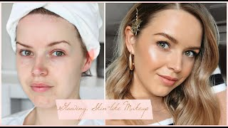 Glowy, Skin-like Makeup || My Super Quick go to Hair & Makeup