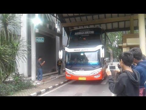 SDD BERNYANYI, PORIS MENGGOYANG!!! Telolet Melodi Bus Tingkat Harapan Jaya A.K.A Sandaran Hati