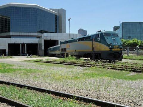 VIA trains at Gare du Palais Quebec City June 2015