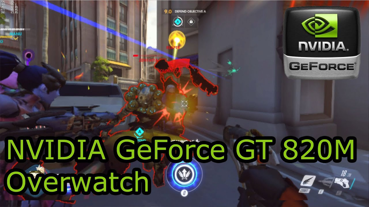 NVIDIA GeForce 820M Gaming - Overwatch - Lenovo Flex 15