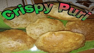 कुरकुरीत लुसलुशीत पुरी / crunchy and tasty puri /easy method and easy ingredients/children favorite.