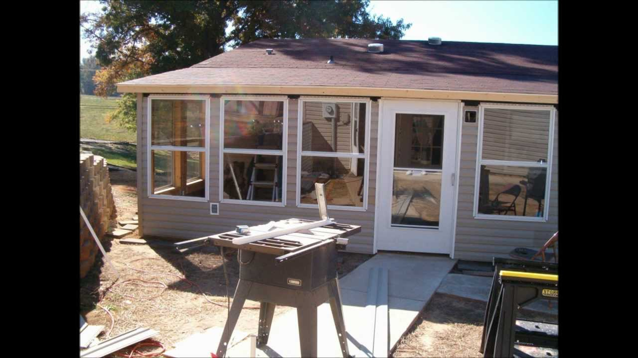 back porch enclosure - YouTube on Enclosed Back Deck Ideas id=12695