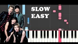 5 Seconds Of Summer - Youngblood (SLOW EASY PIANO TUTORIAL)