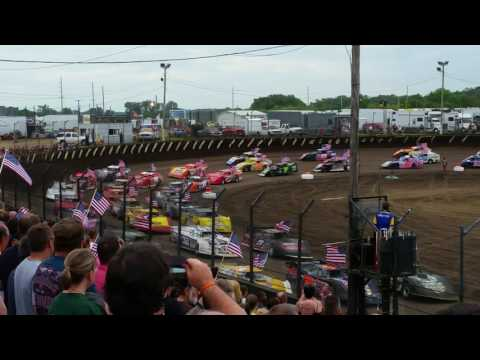 Hell Tour LaSalle Speedway July 4, 2016 Opening Ceremonies