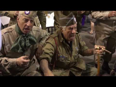 WWII Vet Vince Nuts! Speranza singing with WWII ADT Class 201603