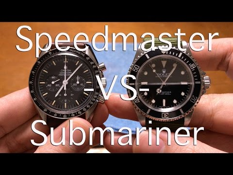 Omega Speedmaster -VS- Rolex Submariner - A Comparison of Icons - Which Watch Would You Choose?