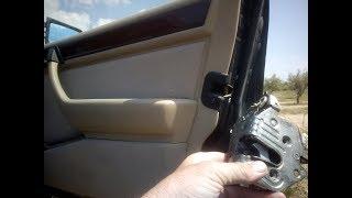 Mercedes W124 - Démonter le mécanisme de porte