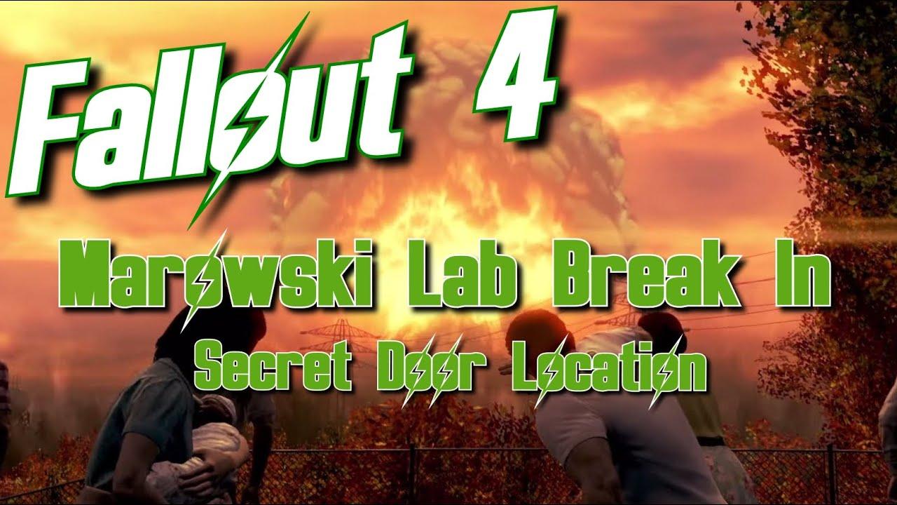 Fallout 4 Marowski Chem Lab Break In Secret Door