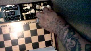 wood chess game complete