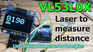 VL53L0X with OLED display  distance measure sensor
