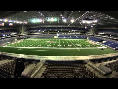 Installation of new football field for the Alamodome