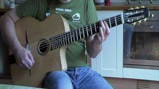 C Major turnaround arpeggio exercise: gypsy jazz guitar lesson