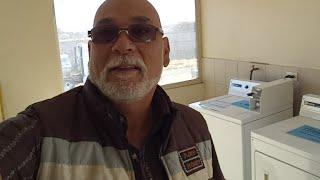 En Parral Chihuahua lavando ropa
