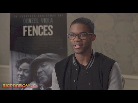 Jovan Adepo FENCES Interview on working with Denzel ...