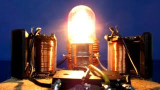 New electricity Free energy light bulb using Wire Self Running - Science project at school