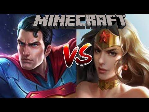ใครจะชนะ?? เมื่อ Superman ปะทะกับ Wonderwomen จากเกมส์ Rov!? (Minecraft Mobs Battle)