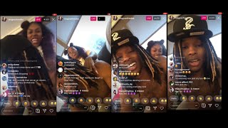 King Von and Asian Doll back together and boo'd up on live #TTRTV