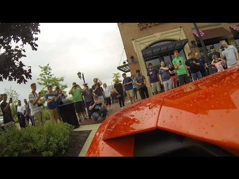 Lamborghini Aventador Loud Exhaust GoPro Peoples reaction in Chicago -3
