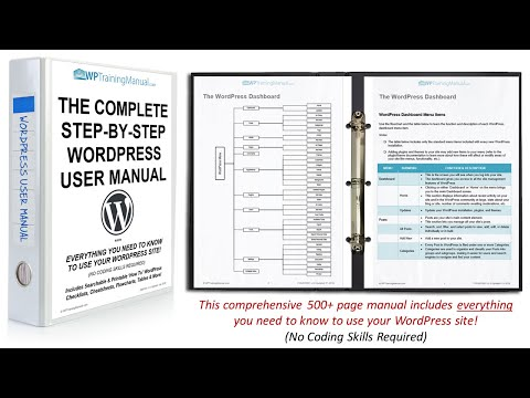 WordPress Training Manual - Complete Step-By-Step WordPress User Manual