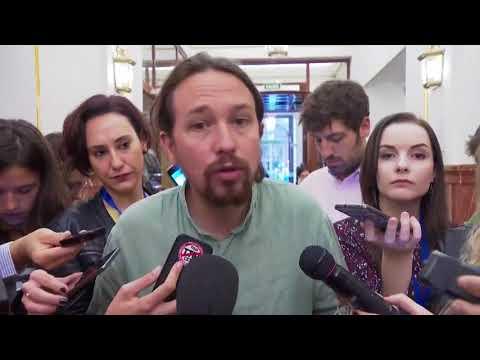 PABLO IGLESIAS (Podemos) - Declaraciones sobre CATALUÑA (19/10/2017)