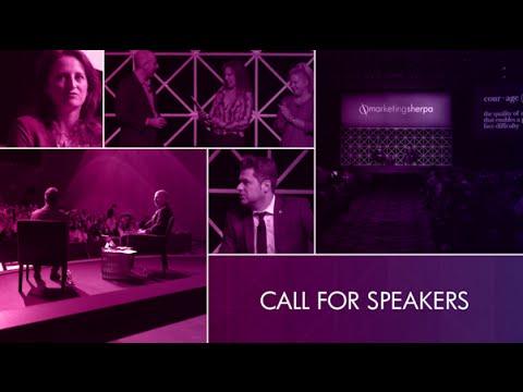 Speaking at MarketingSherpa: Call for speakers for MarketingSherpa Summit 2017 in Las Vegas