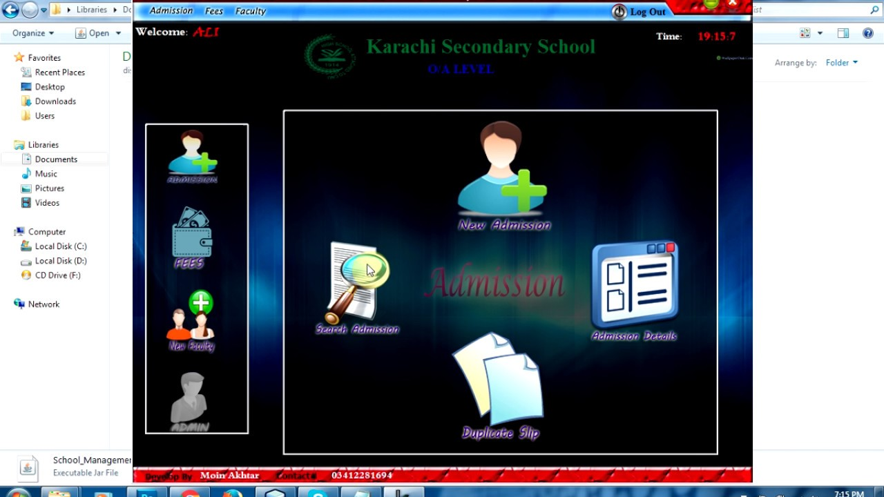School Management Java Project
