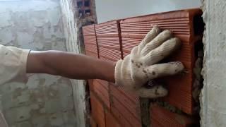 Cómo construir paredes de bloques arcillas