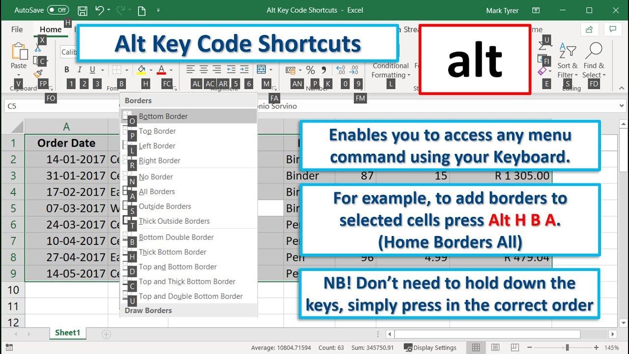 Alt Key Code Shortcuts | Corporate Onsite, Public & Webinar