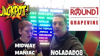 DOMINATING Round 1 Arcade Games with THE MIDWAY MANIAC! Drew puts on a JACKPOT and BONUS win CLINIC!