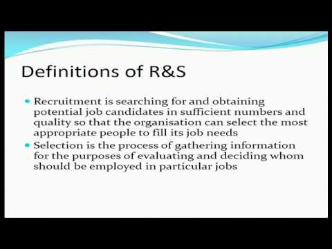 Lecture 5 Recruitment and Selection