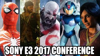 E3 2017 All Trailers & Gameplays from SONY Conference in 4K @ 2160p HD ✔