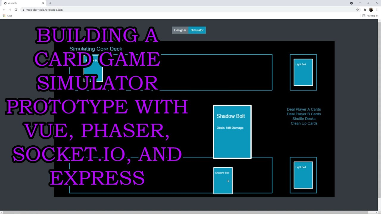 Building a Card Game Simulator Prototype with Vue, Phaser, Socket.IO, and Express