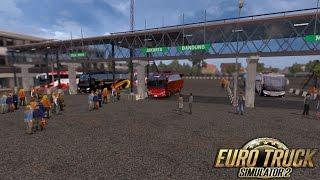 (GAME PC) ETS 2 - Edisi Mod Bus&Map Jowo V5-Supir Amatir nabrak dipertigaan