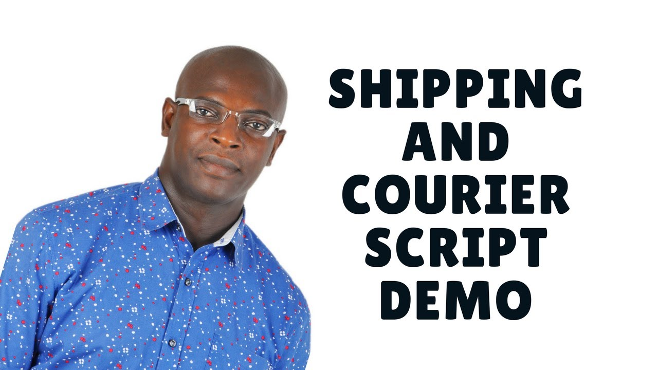shipping and courier script with tracking demo