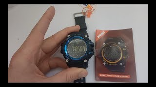 Умные смарт часы skmei 1227 smart watch (инструкция, обзор, настройка, приложение, отзывы)