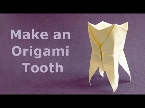 how to fold an origami tooth molar muela youtube