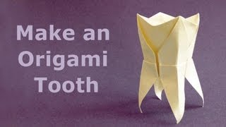 How to fold an Origami Tooth / Molar  Muela