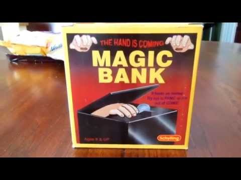 Magic Bank - The Hand Is Coming! (Schylling) A Creepy Hand Grabs Your Coins!