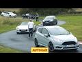Fiat 124 Spider vs Mazda MX-5 + hot hatch battle in sub-�25k sports car shootout | Autocar