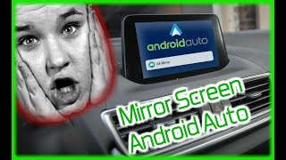 Mirror Screen ANDROID AUTO App 2018 (Subtitled)